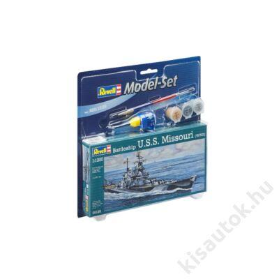 Revell 1:1200 Battleship U.S.S. Missouri (WWII) SET hajó makett