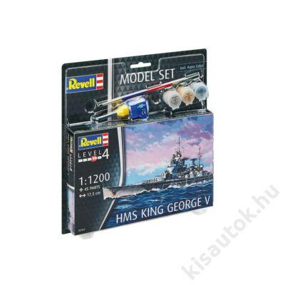 Revell 1:1200 HMS King George V SET hajó makett