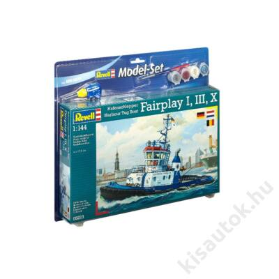 Revell 1:144 Hafenschlepper Harbour Tug Boat Fairplay I, III, X SET