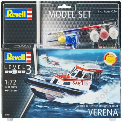 Revell 1:72 Search & Rescue Daughter-Boat Verena SET