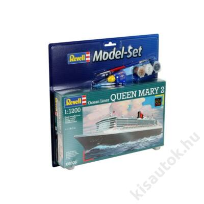 Revell 1:1200 Ocean Liner Queen Mary 2 SET