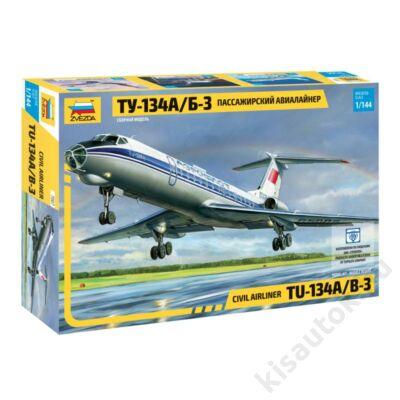 Zvezda 1:144 Russian Civil Airliner Tu-134A/B-3 repülő makett