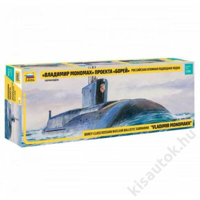 "Zvezda 1:350 Borey-Class Russian Nuclear Ballistic Submarine ""Vladimir Monomakh"""