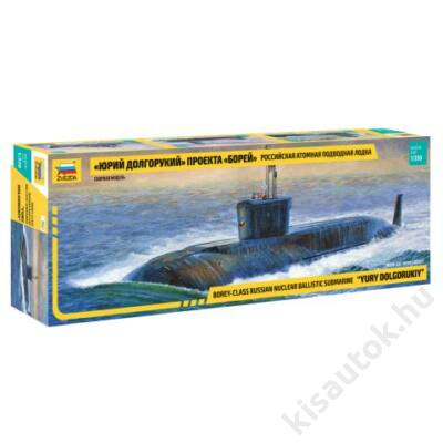 """Zvezda 1:350 Borey-Class Russian Nuclear Ballistic Submarine """"Yury Doglorukiy"""""""