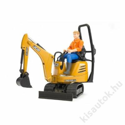 Bruder Bworld - JCB Micro excavator 8010 CTS építőipari munkással