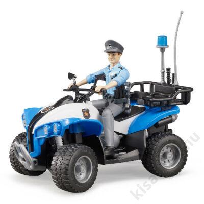 Bruder Bworld Rendőrségi Quad sofőrrel és felszereléssel