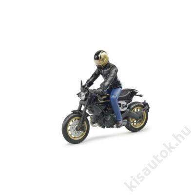 Bruder Scrambler Ducati Cafe Racer motorkerékpár vezetővel