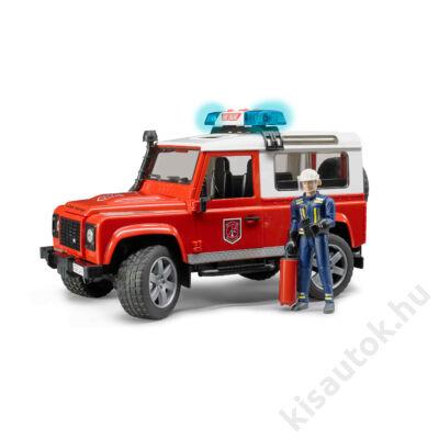 Bruder Land Rover Defender tűzoltó autó tűzoltóval