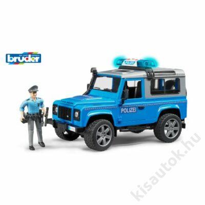 Bruder Land Rover Defender rendőrautó rendőrrel és felszereléssel