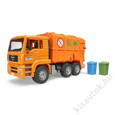 Bruder MAN szemetesautó /narancssárga
