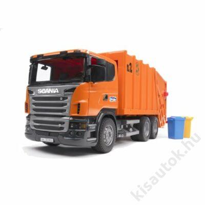 Bruder SCANIA R-szériás kukás autó /narancssárga