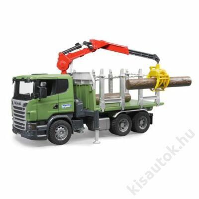 Bruder Scania R-szériás rönkszállitó teherautó