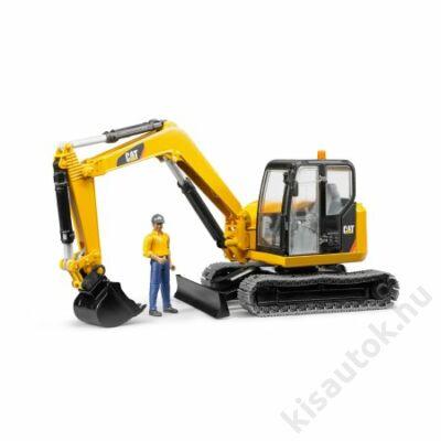 Bruder Cat Mini Excavator munkással