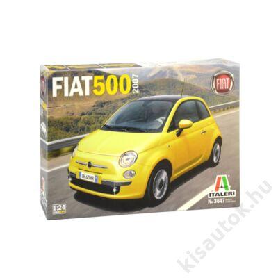 Italeri 1:24 Fiat 500 (2007) autó makett