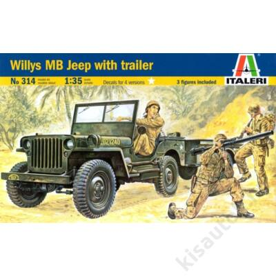 Italeri 1:35 Willys MB Jeep with Trailer
