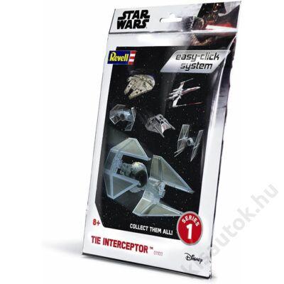 Revell 1:90 Tie Interceptor Easy-Click Star Wars makett