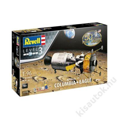 Revell 1:96 Apollo 11 Columbia + Eagle 50th Anniversary Gift SET űrhajó makett