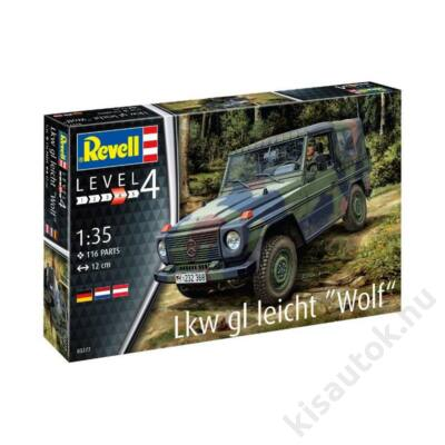 "Revell 1:35 Lkw gl leicht ""Wolf"" harcijármű makett"