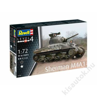 Revell 1:72 Sherman M4A1 tank makett