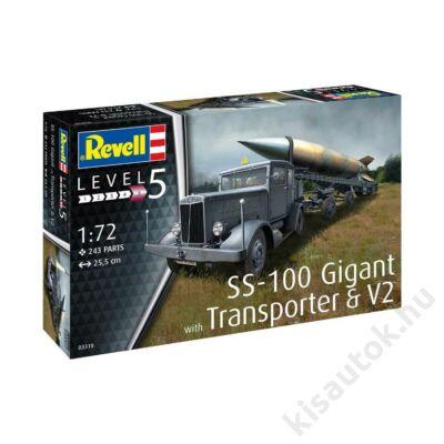 Revell 1:72 SS-100 Gigant + Transporter + V2 harcijármű makett
