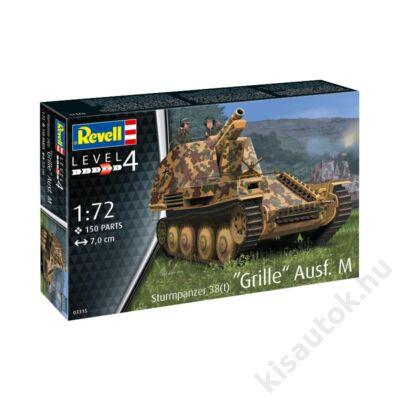 Revell 1:72 Sturmpanzer 38(t) Grille Ausf. M tank makett