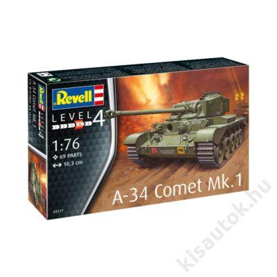 Revell 1:76 A-34 Comet Mk.1 tank makett