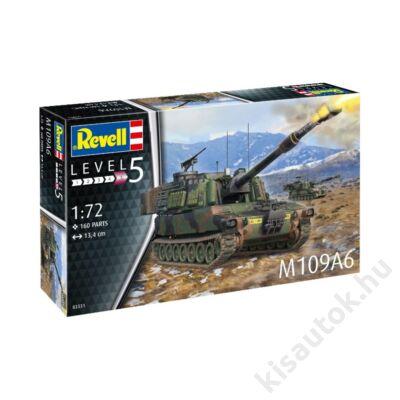 Revell 1:72 M109A6 tank makett