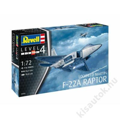 Revell 1:72 Lockheed Martin F-22A Raptor repülő makett