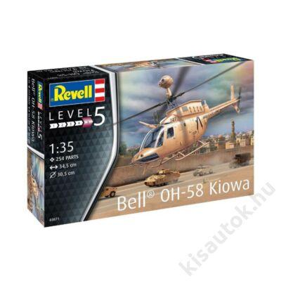Revell 1:35 Bell OH-58 Kiowa helikopter makett