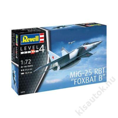 """Revell 1:72 MiG-25 RBT """"Foxbat B"""" repülő makett"""