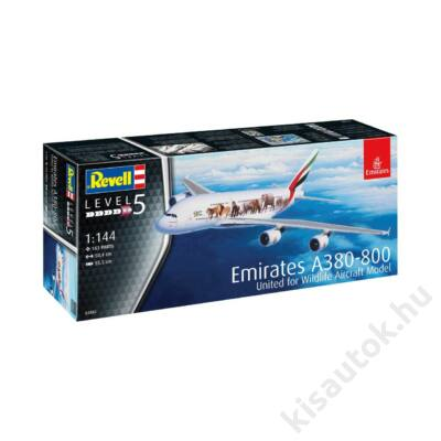 Revell 1:144 Emirates Airbus A380-800 United for Wildlife