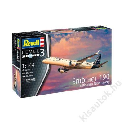 Revell 1:144 Embraer 190 Lufthansa New Livery repülő makett