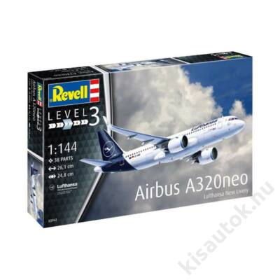 Revell 1:144 Airbus A320neo Lufthansa New Livery repülő makett