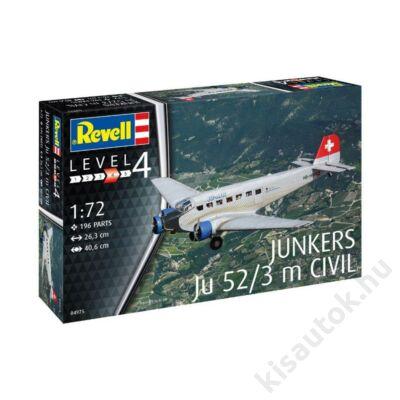 Revell 1:72 Junkers Ju52/3m Civil repülő makett