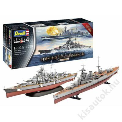 Revell 1:700 Battle Set HMS Hood vs. Bismarck - 80th Anniversary hajó makett
