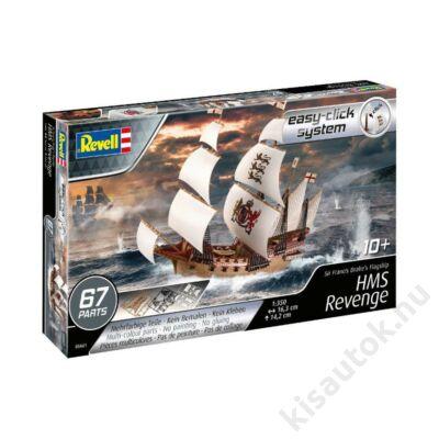 Revell 1:350 Sir Francis Drake's Flagship HMS Revenge Easy-Click hajó makett