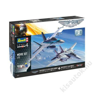 Revell 1:72 Maverick's F/A-18E Super Hornet, F-14D Tomcat Top Gun: Maverick SET repülő makett