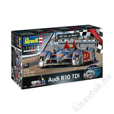 Revell 1:24 Gift Set Audi R10 TDI + 3D Puzzle (Le Mans versenypálya) autó makett