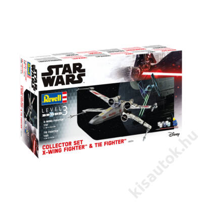 Revell 1:57 & 1:65 Collector Set X-Wing Fighter + TIE Fighter SET