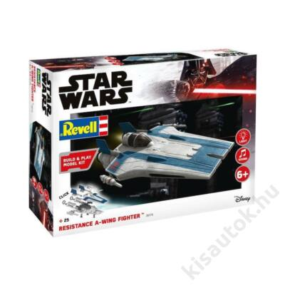 Revell 1:44 Star Wars Resistance A-Wing Fighter, blue Build and Play