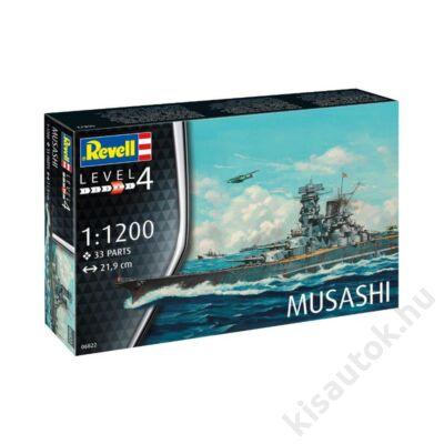 Revell 1:1200 Musashi hajó makett