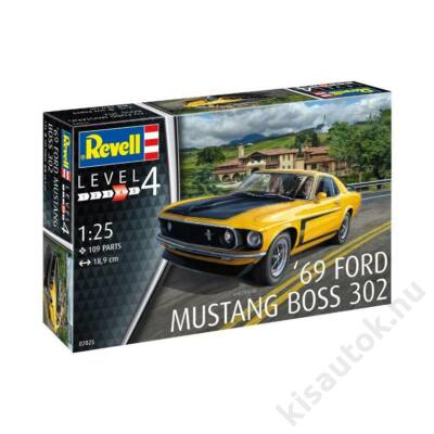 Revell 1:24 '69 Ford Mustang Boss 302 makett autó