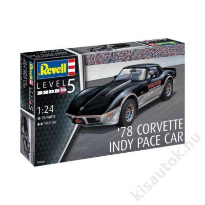 Revell 1:24 '78 Corvette Indy Pace Car autó makett