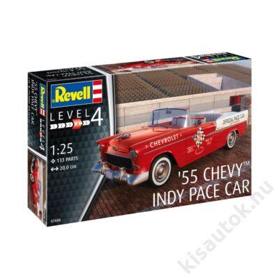 Revell 1:25 '55 Chevy Indy Pace Car makett autó