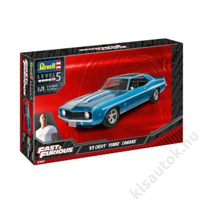 Revell 1:24 Fast & Furious '69 Chevy Yenko Camaro autó makett