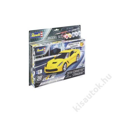 Revell 1:25 2014 Corvette Stingray Easy-Click SET autó makett