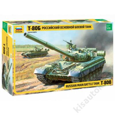 Zvezda 1:35 Russian Main Battle Tank T-80B