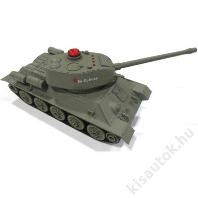 Uni-Fun T34 távirányítós tank infra lövéssel 1/24 terepszínű