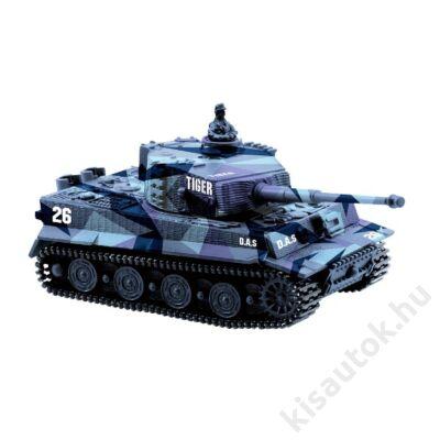 Német Tigris mini távirányítós tank 1/72 9cm-es kék