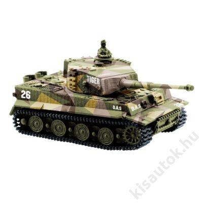 Német Tigris mini távirányítós tank 1/72 9cm-es sivatagi szürke